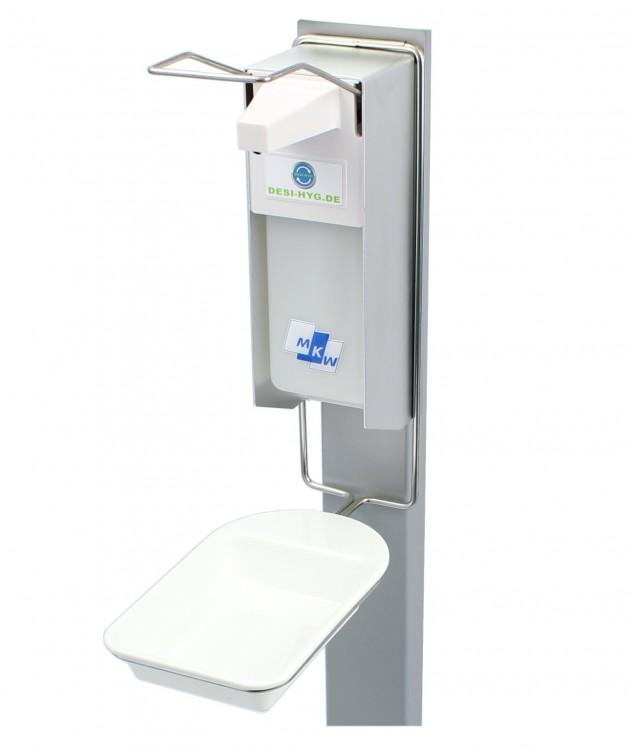 Desinfektionsmittelspender 1000ml, inkl. Tropfschale, Eurospender, Aluminium